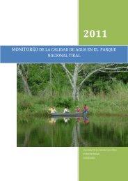 Monitoreo de la calidad de agua del Parque Nacional Tikal - Maya ...
