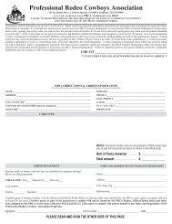 2014 PRCA Membership Renewal Form - Professional Rodeo ...