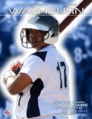 2010 Media Guide - Washburn Athletics