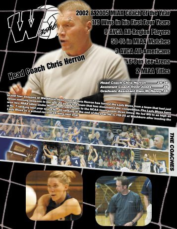 2006 Coaching Staff - Washburn Athletics