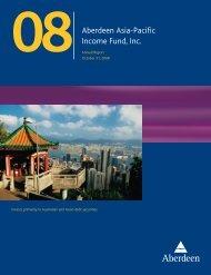 Aberdeen Asia-Pacific Income Fund, Inc. - Aberdeen Asset ...