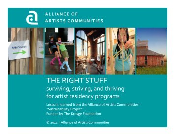 presentation - Alliance of Artists Communities