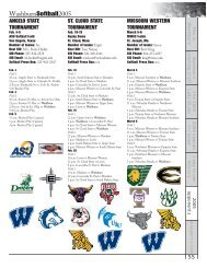 2005 Opponent Information - Washburn Athletics