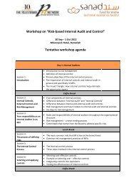 """Workshop on """"Risk-based Internal Audit and Control"""" Tentative ..."""