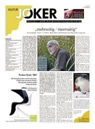 Kultur Joker Juli-Ausgabe 2015