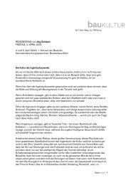REDEBEITRAG von Jörg Schlaich FREITAG, 4 ... - stiftung baukultur