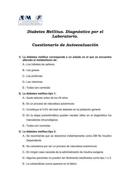 cual es la diabetes mellitus no insulinodependiente