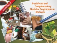 Traditional and Complementary Medicine Programme in Malaysia