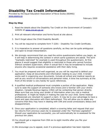 Disability Tax Credit Certificate - MAK Financial and Tax Consultants