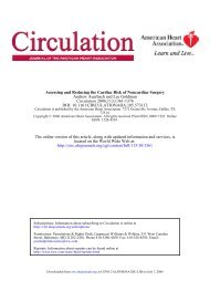Assessing and Reducing the Cardiac Risk of Noncardiac Surgery