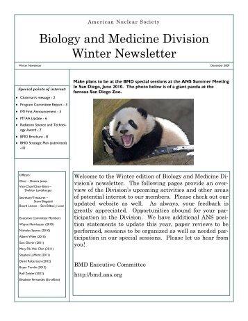 Biology and Medicine Division Winter Newsletter
