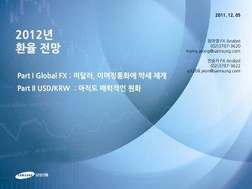2012년 전망 - 삼성선물