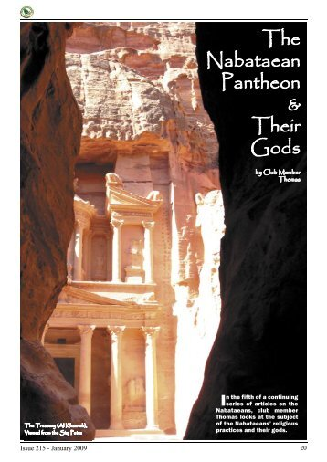 & Their Gods The Nabataean Pantheon