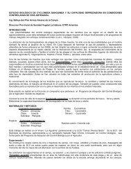 ESTUDIO BIOLÓGICO DE CYCLONEDA SANGUINEA Y SU ...