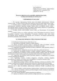 sveikatos skyriaus nuostatai - Šiaulių miesto savivaldybė