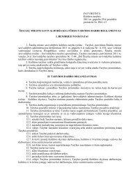kultūros tarybos darbo reglamentas - Šiaulių miesto savivaldybė