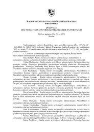 šiaulių miesto savivaldybės direktoriaus įsakymas