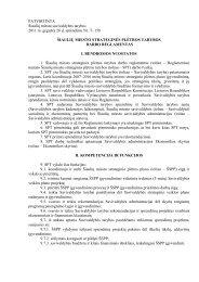 Strateginės plėtros tarybos darbo reglamentas - Šiaulių miesto ...