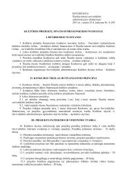 PATVIRTINTA Šiaulių miesto savivaldybės administracijos ...
