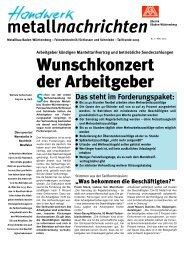Metallnachrichten Metallbau Baden-Württemberg Nr. 2/2005