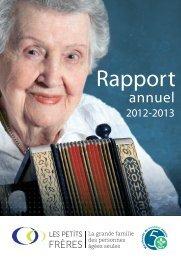 rapport annuel 2012-2013 - Les Petits Frères