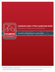 Cyclebetes Spin-a-Thon Leadership Guide ... - DonorDrive