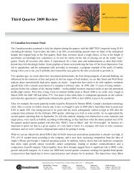 Quarterly Comment - CI Investments