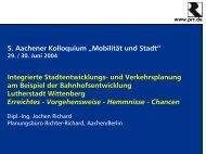 und Verkehrsplanung am Beispiel der Bahnhofsentwicklung - prr.de
