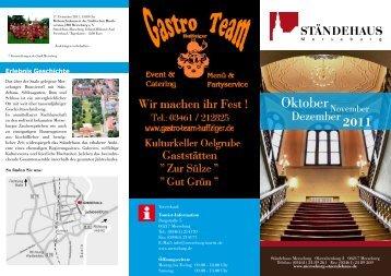 Oktober - Ständehaus Merseburg