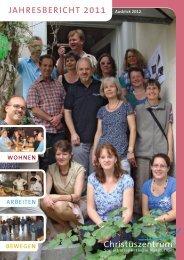 jAhresbericht 2011 WOhNeN - Christuszentrum
