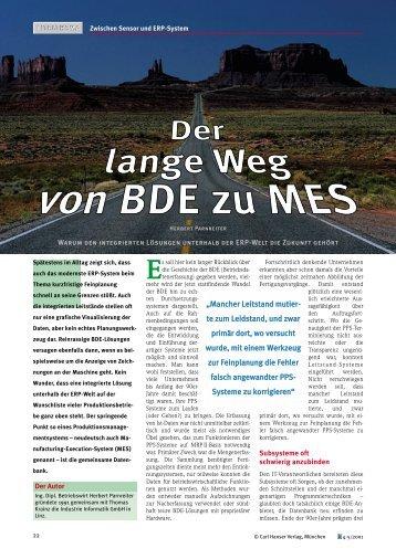 """""""Der lange Weg von BDE zu MES"""" als - Industrie Informatik GmbH"""