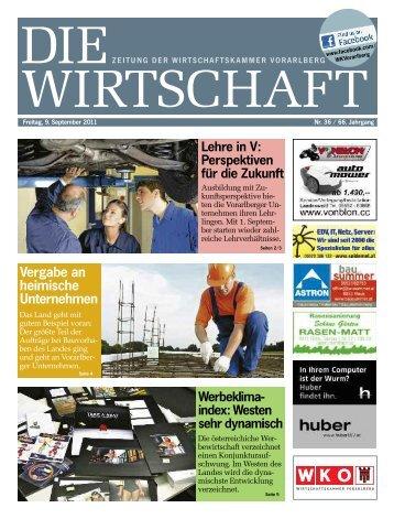 Die Wirtschaft Nr. 36 vom 9. September 2011
