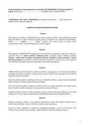 Obrazac ugovora - Ministarstvo poduzetništva i obrta