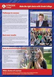 Newsletter - 2011 issue 1 - Strode College