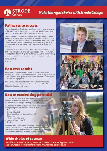 Newsletter - 2011 issue 1 - Strode College