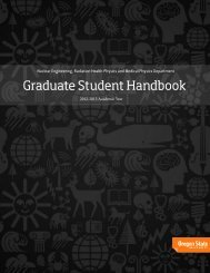 Graduate Student Handbook - Nuclear Engineering &  Radiation ...