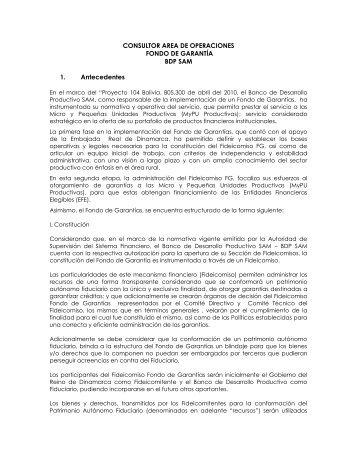 CONVOCATORIA DE PERSONAL - Banco de Desarrollo Productivo