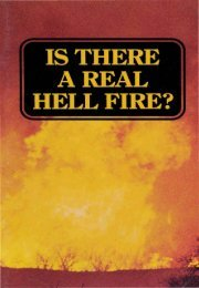 Is There A Real Hell Fire PDF - Church of God Faithful Flock