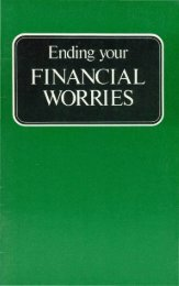 Ending Your Financial Worries PDF - Church of God Faithful Flock