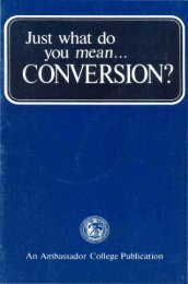 Just What Do You Mean Conversion? - Church of God Faithful Flock
