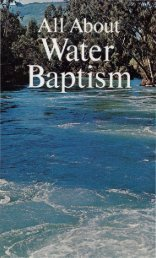 All About Water Baptism PDF - Church of God Faithful Flock