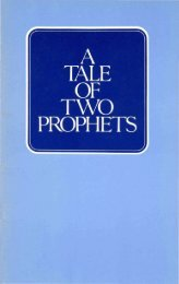 A Tale of Two Prophets - Church of God Faithful Flock