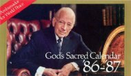 God's Sacred Calendar PDF - Church of God Faithful Flock