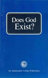 Does God Exist PDF - Church of God Faithful Flock