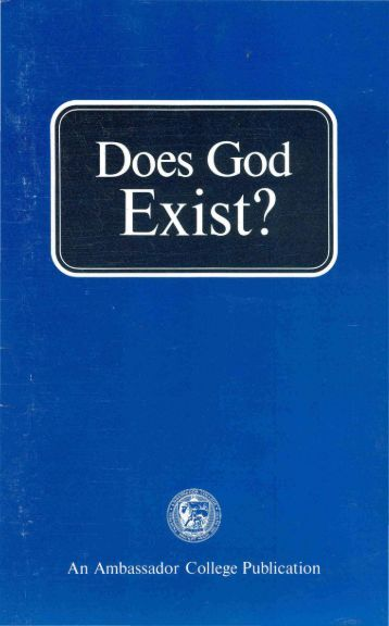 a personal view on the existence of god Of god this is seen in one of the most important prayers for jews, the shema  a  'personal' god eternal - god has and will always exist and is not limited by.