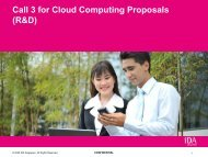 Call 3 for Cloud Computing Proposals (R&D) - National Cloud ...