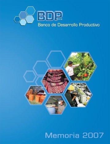 memoria2007.pdf - Banco de Desarrollo Productivo