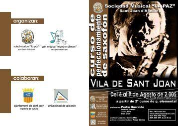 Folleto Curso saxo 2005 - Adolphesax.com
