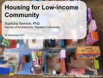 Housing for Low-income Community - Thai-US Creative Partnership