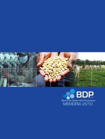 memoria2010.pdf - Banco de Desarrollo Productivo